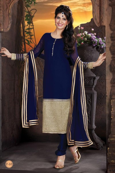 Buy Beguiling Blue Colored Designer Salwar Suit