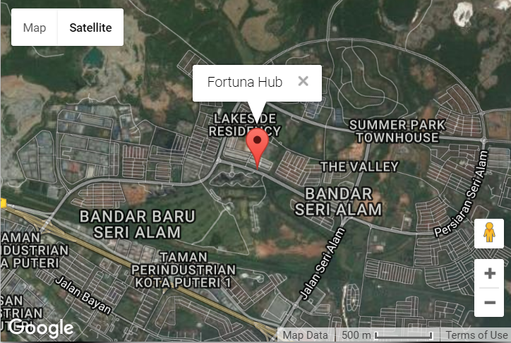 3 storey intermediate shop office Fortuna Hub Bandar Seri Alam