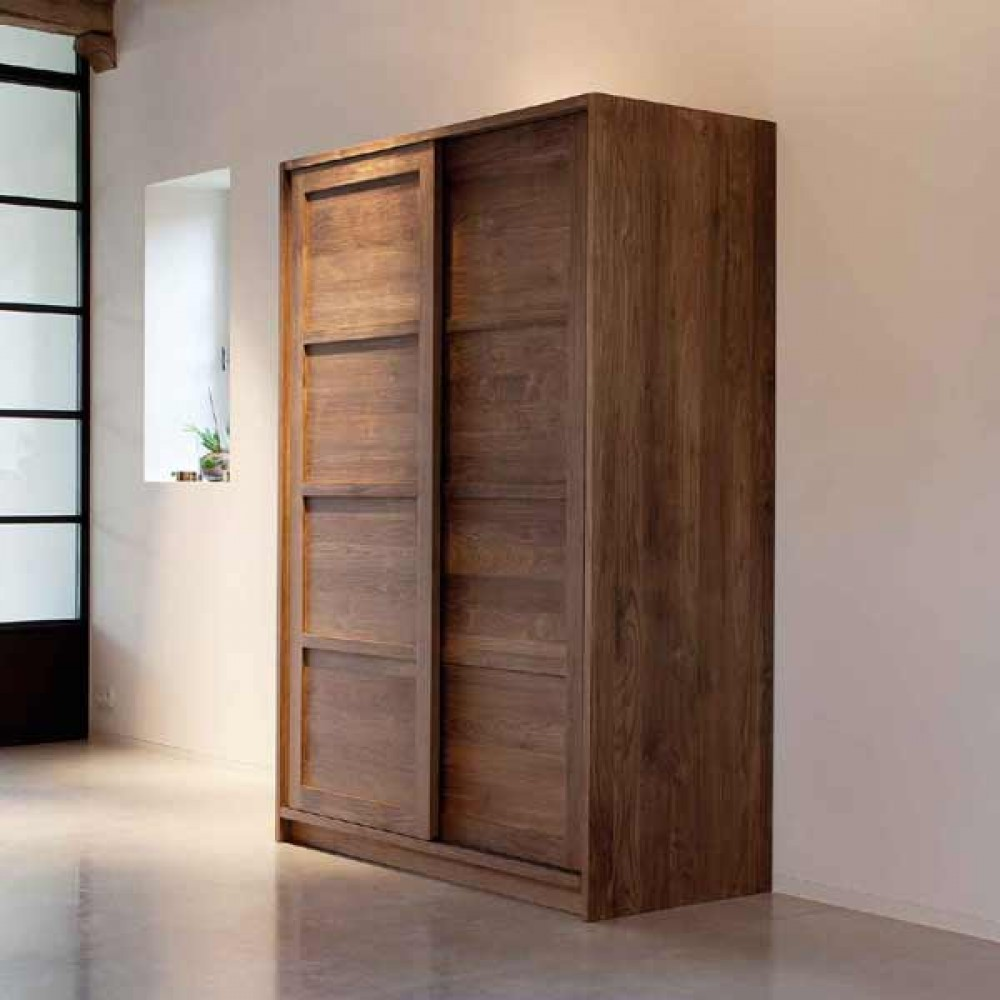 teak 2 door wardrobe – majesteak