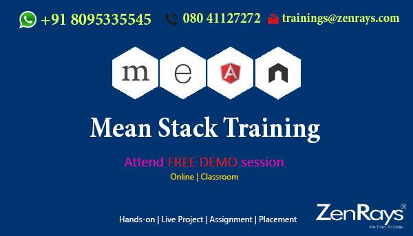 Best MEAN stack training Institute in Bangalore India