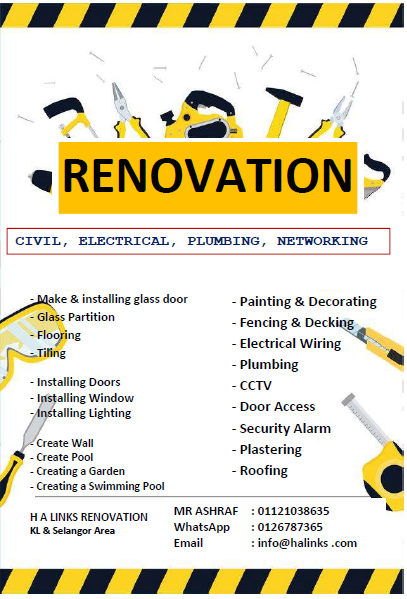 RENOVATION KL – Mr ASHRAF (012 6787365)