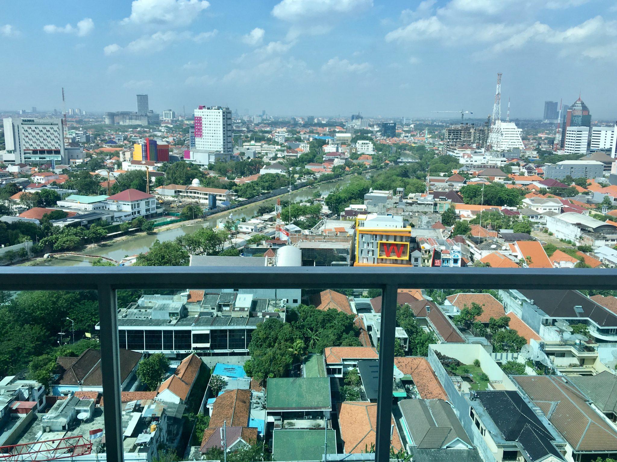 Disewakan apartemen Trillium Surabaya (East Java – Indonesia) – Tengah Kota & Pemandangan Kota – Lt 21.