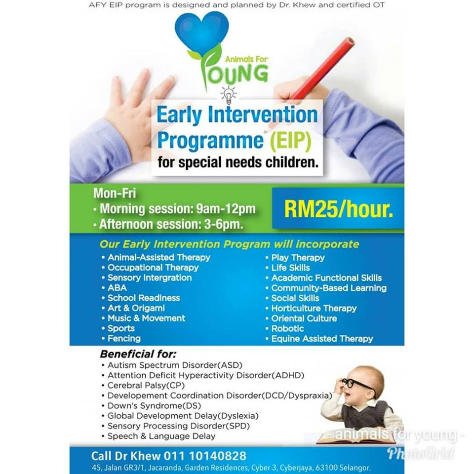 ONE OF THE BEST EARLY INTERVENTION PROGRAMME (EIP) FOR SPECIAL NEEDS CHILDREN AT CYBERJAYA
