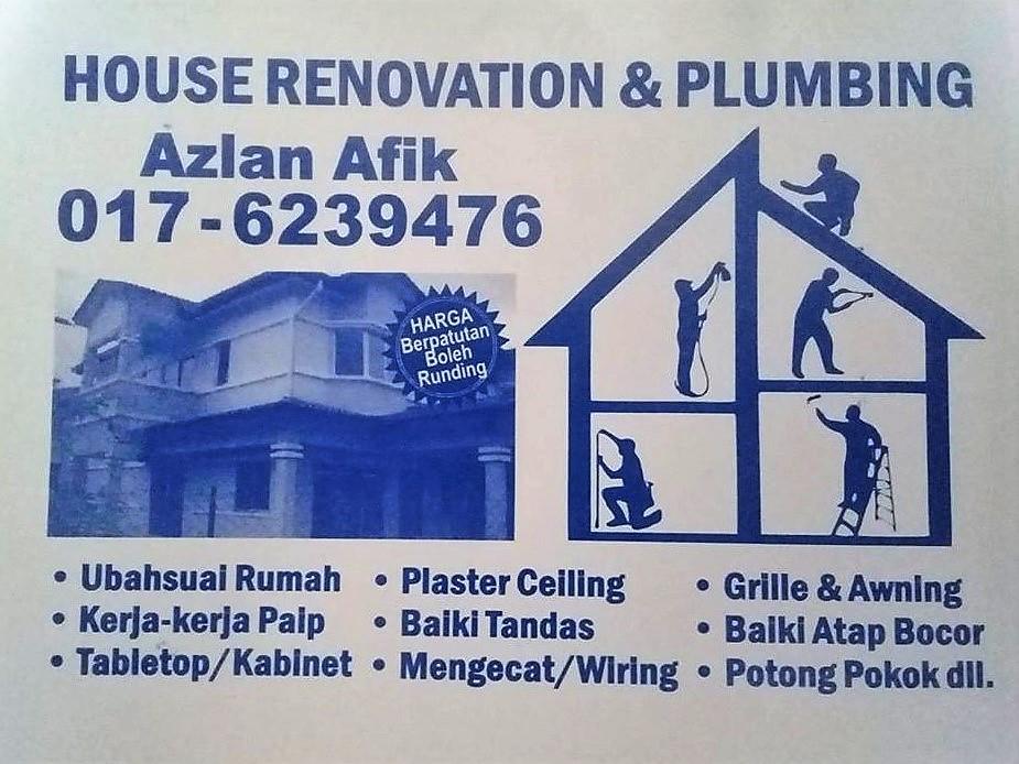 plumbing dan renovation tukang paip plumber 0176239476 azlan afik taman melati