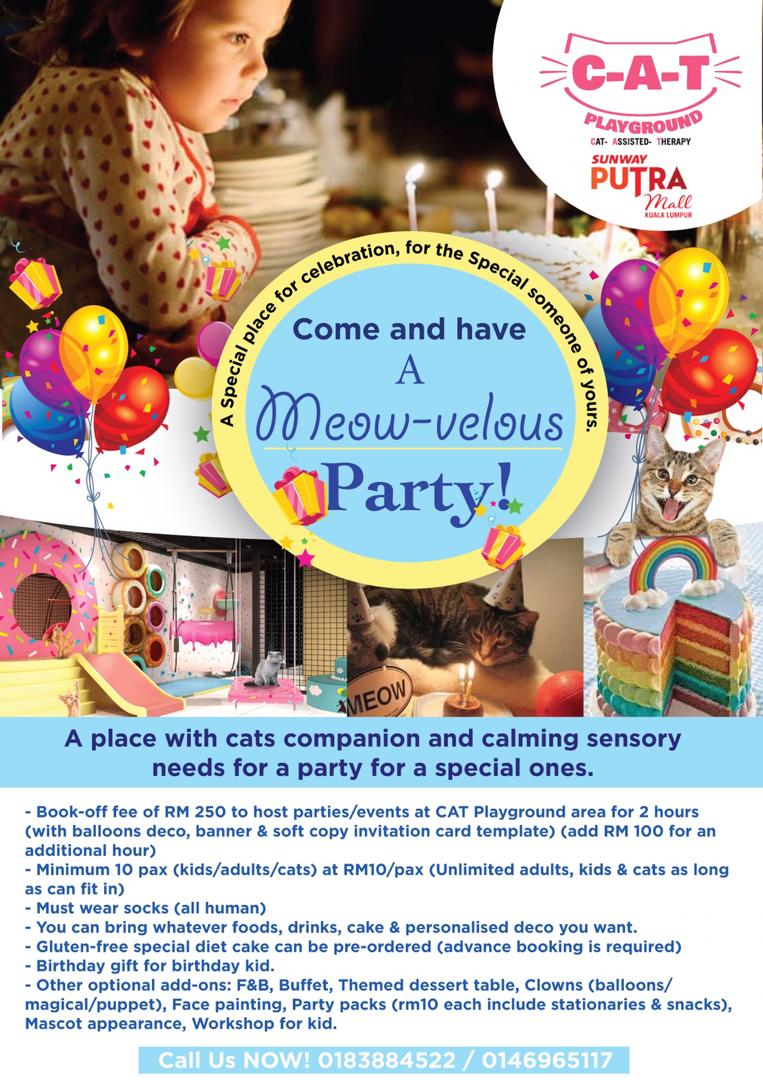 BIRTHDAY PARTY AT CAT PLAYGROUND @ SUNWAY PUTRA MALL!