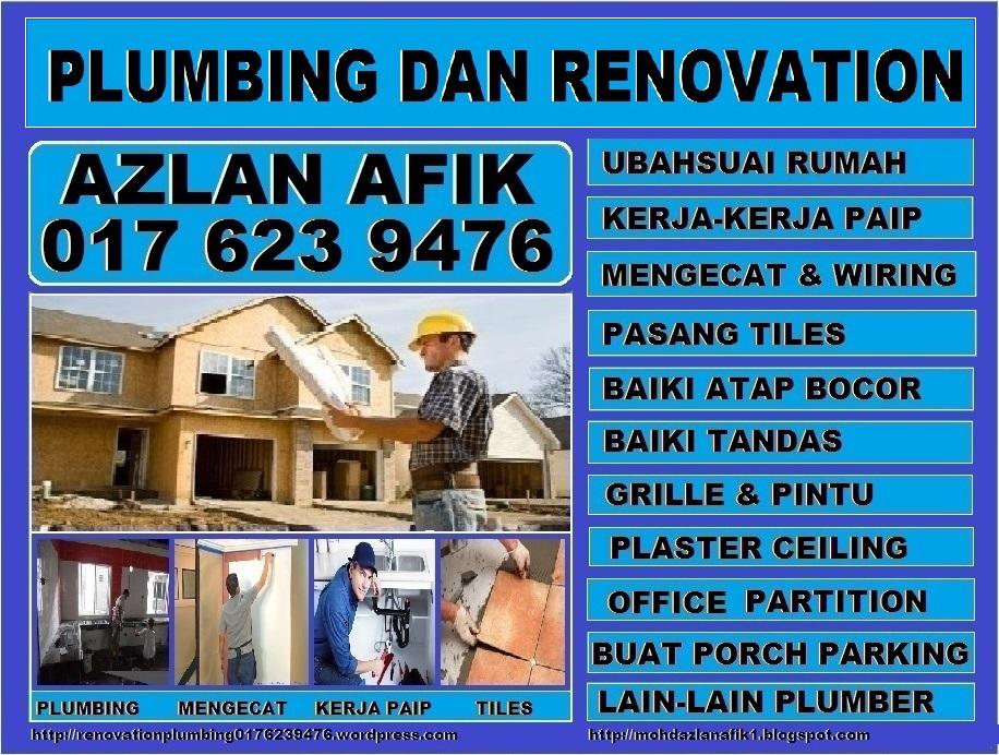 plumbing dan renovation tukang paip plumber 0176239476 azlan taman melawati