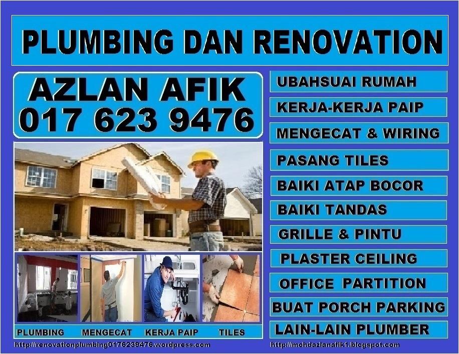 plumbing dan renovation tukang paip plumber 0176239476 azlan Taman Sri Gombak