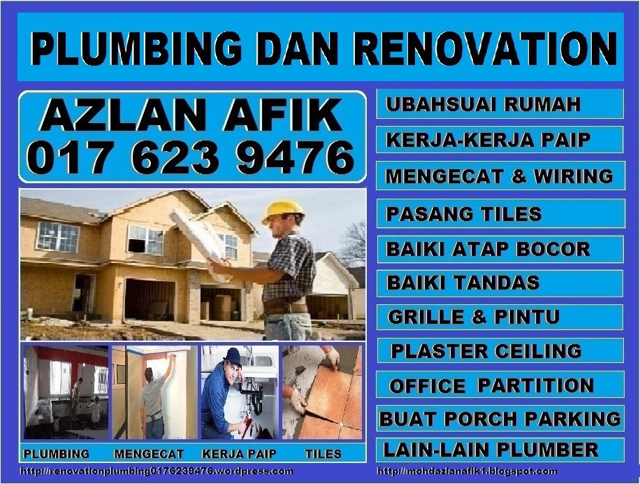 plumbing dan renovation tukang paip plumber 0176239476 azlan taman melati
