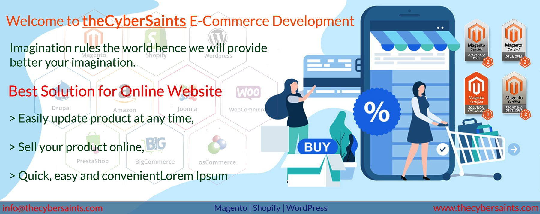 Get Your Magento eCommerce Website just at 399