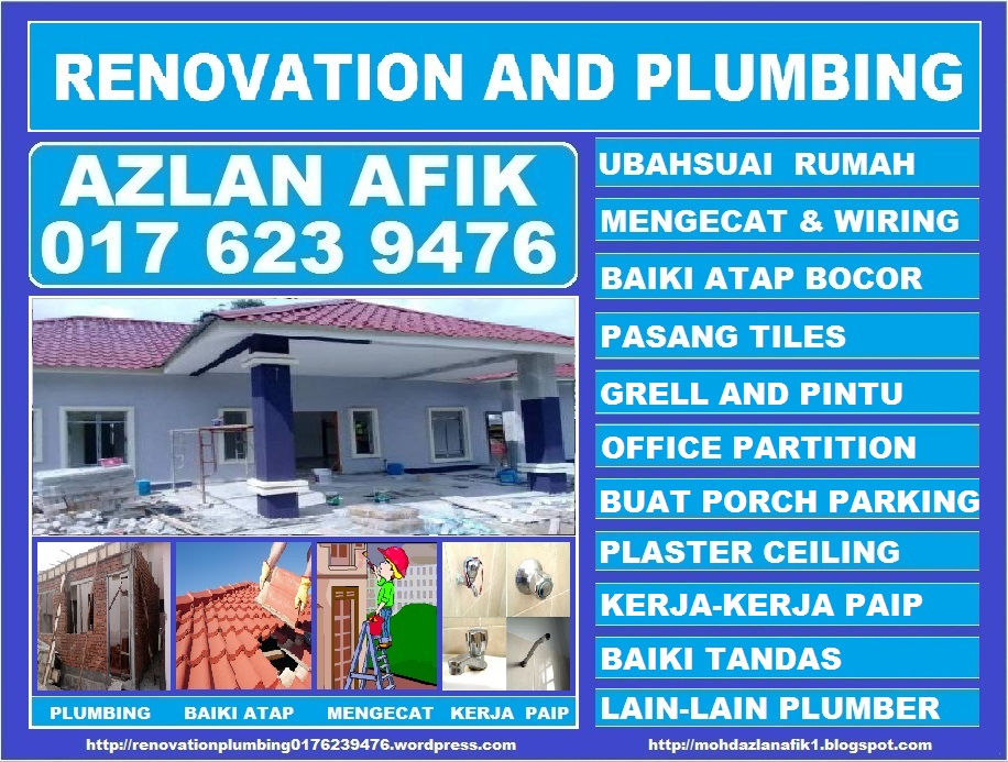 renovation and plumbing 0176239476 azlan afik taman setiawangsa