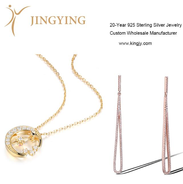 Sterling silver gold plated ring necklaces bracelets earrings jewelry custom