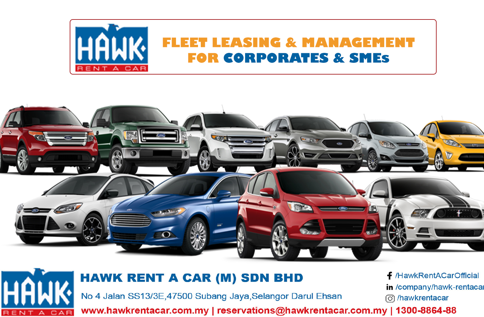 Fleet Leasing & Management for Corporates & SMEs-HAWK Rent a car