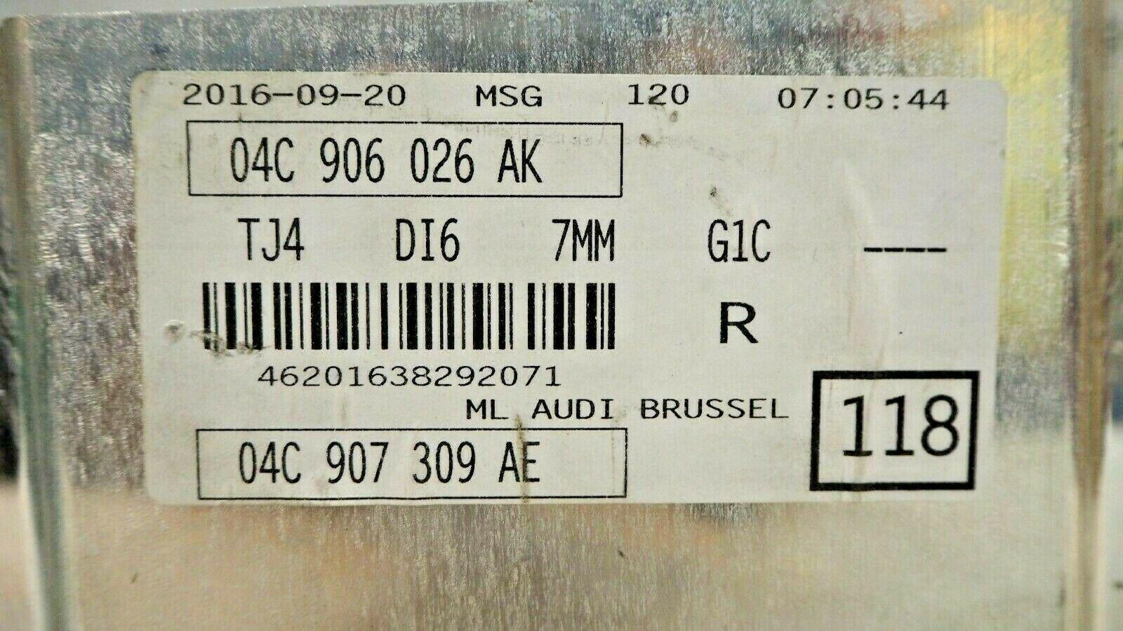 AUDI A1 1.0 TFSI 2016 ENGINE ECU CONTROL MODULE