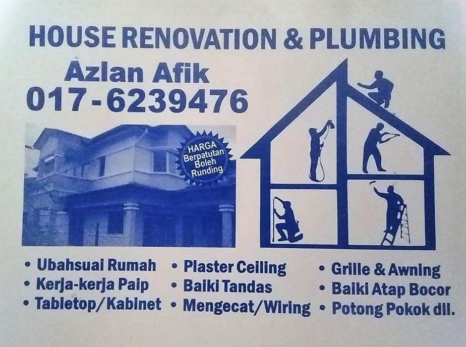 plumbing dan renovation azlan afik  0176239476 taman samudra