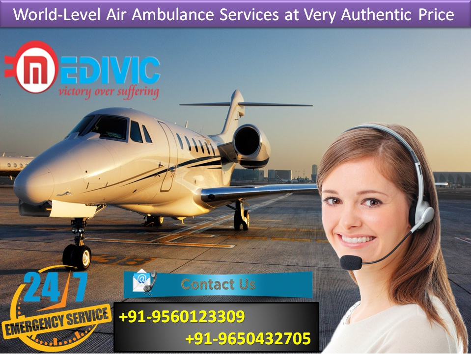 Get Tremendous Medical Facilities by Medivic Air Ambulance from Bangalore