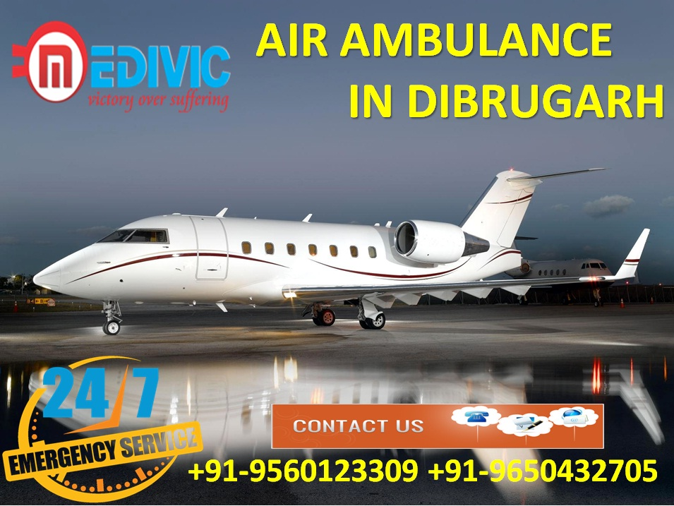 Select Supreme Life-Guard Air Ambulance from Dibrugarh by Medivic