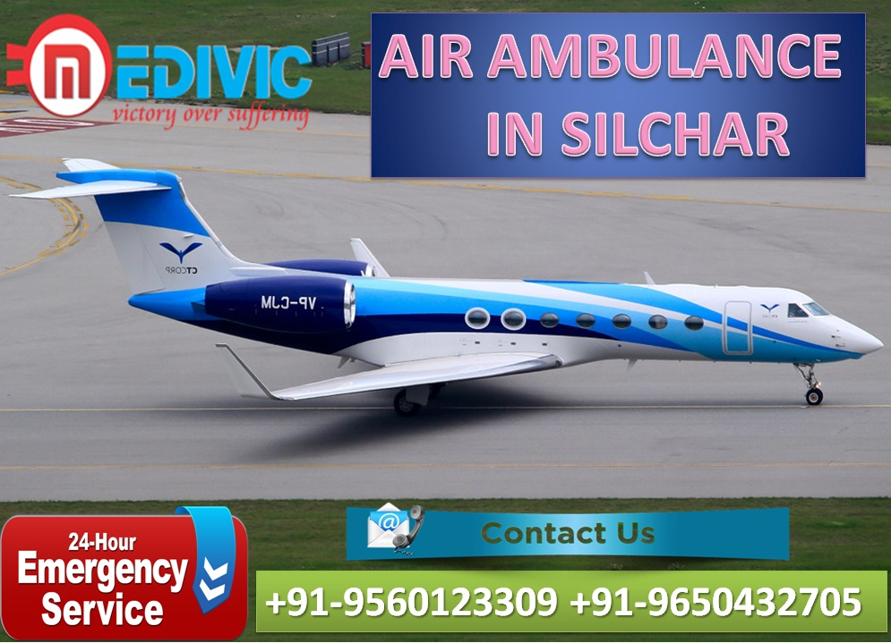 Now Book Much Rebated Air Ambulance from Silchar by Medivic