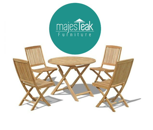 Outdoor Teak Round Dining Set