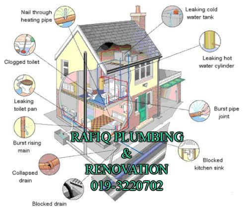 tukang paip plumbing baiki atap bocor renovation