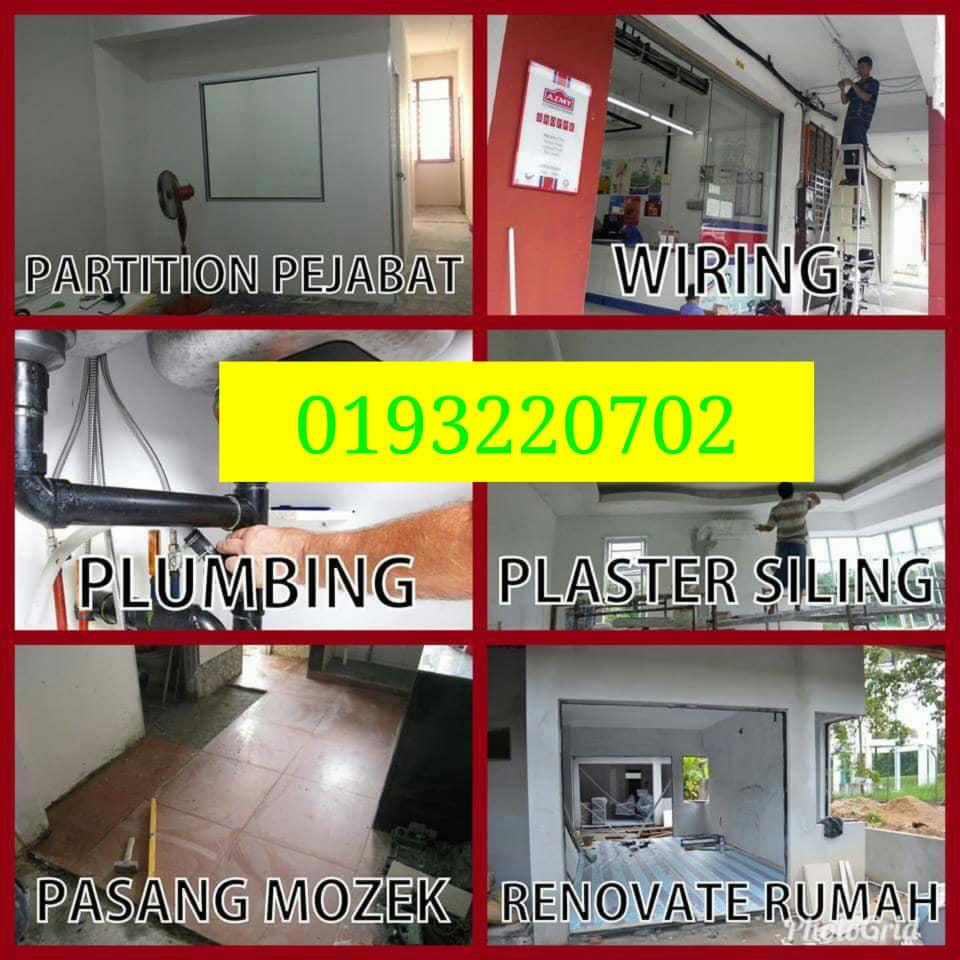 tukang paip plumber tukang cat rumah renovation