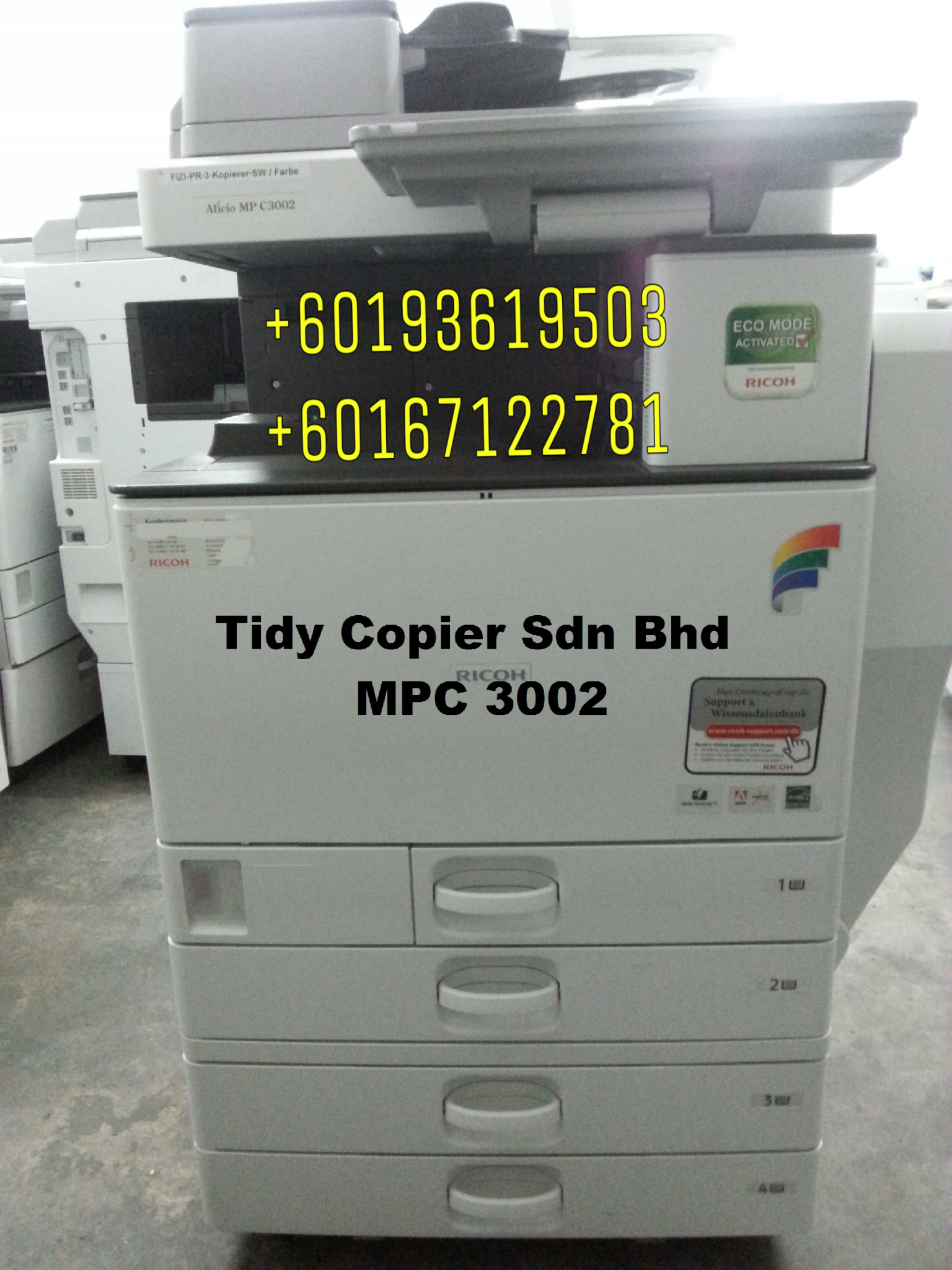 PHOTOCOPIER MACHINE MPC 3002