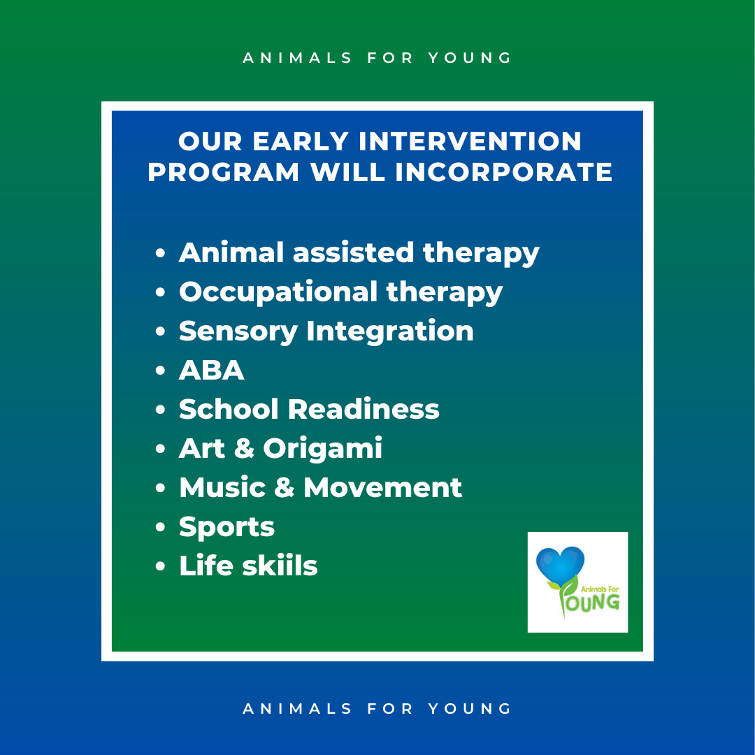 Animals for Young Early Intervention Program