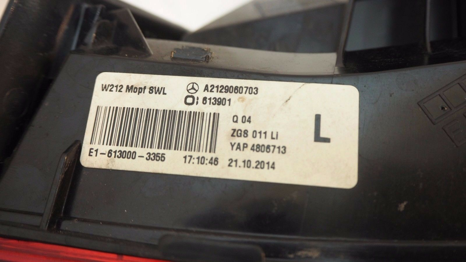 MERCEDES BENZ W212 TAIL LAMP LEFT FOR SALE A2129060703
