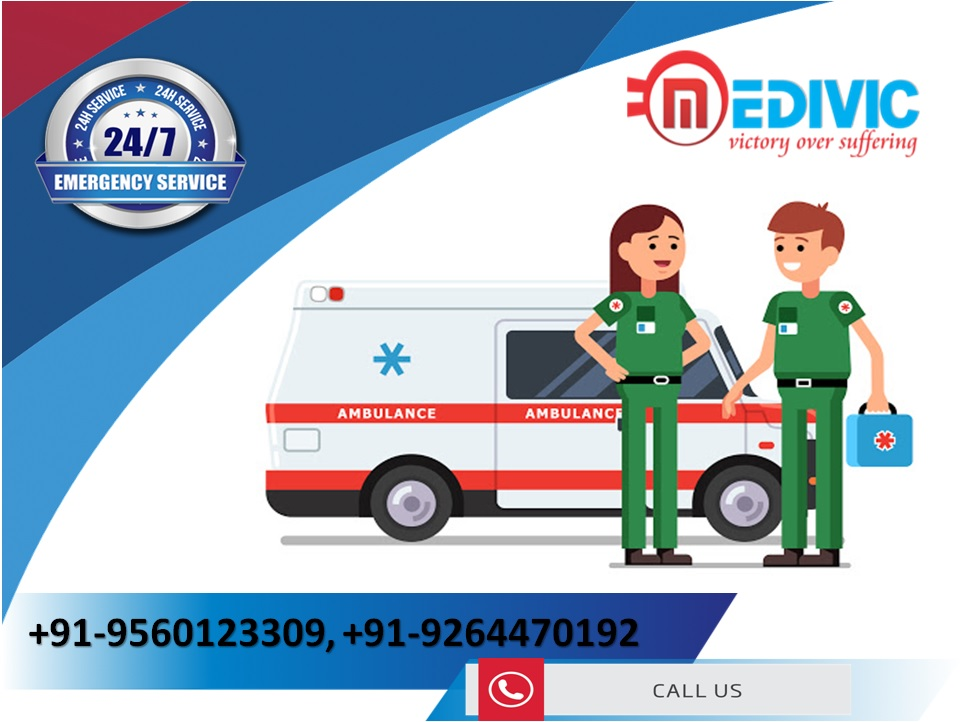 Take Medivic Ambulance Service in Patna with Supercilious ICU Setup