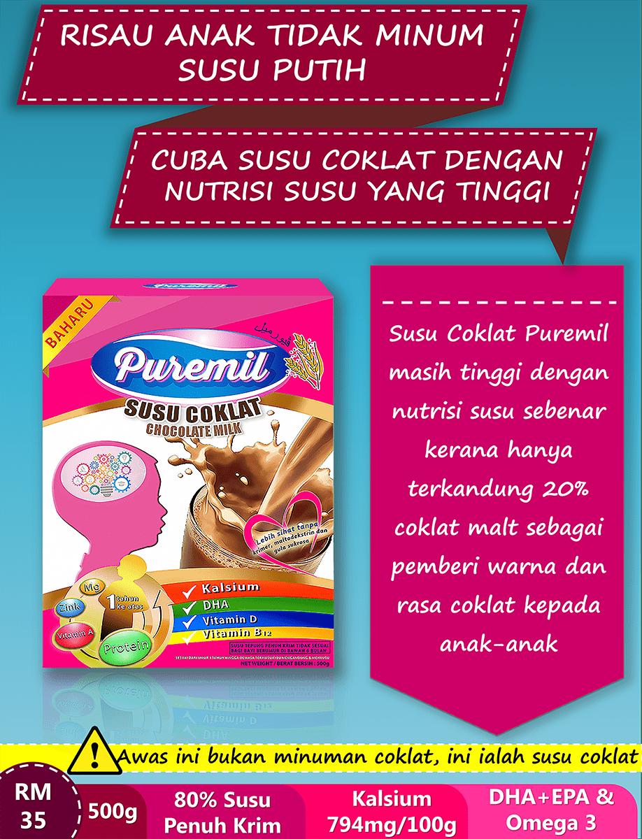 Susu Puremil membantu mengurangkan masalah sembelit anak-anak