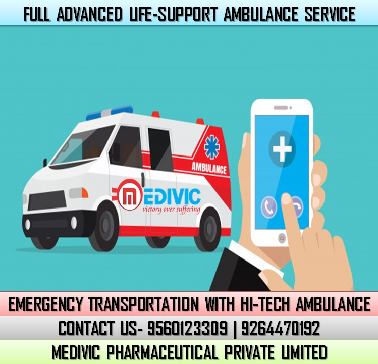 Select the High-Level Emergency Ambulance Service in Darbhanga by Medivic