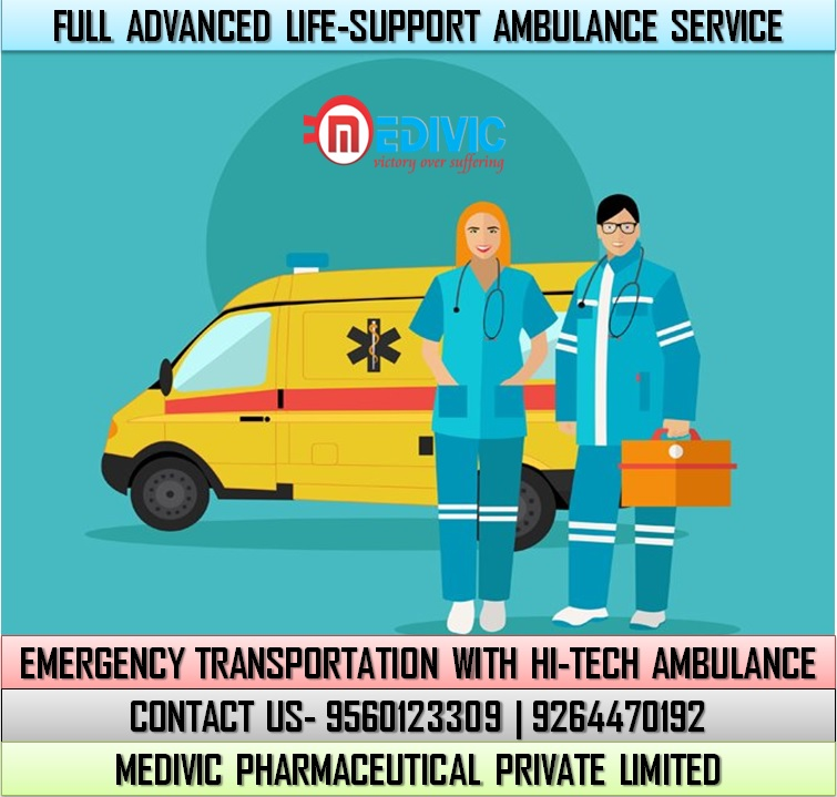 Get Top-Class ICU Convenience Ambulance Service in Patna by Medivic