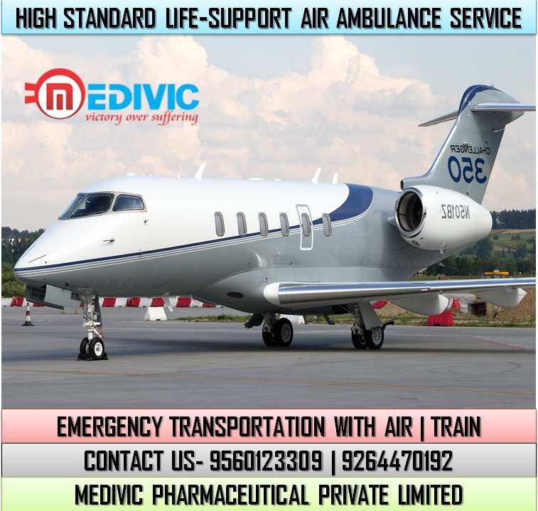 Utilize Most Valuable ICU Air Ambulance Service in Bagdogra by Medivic