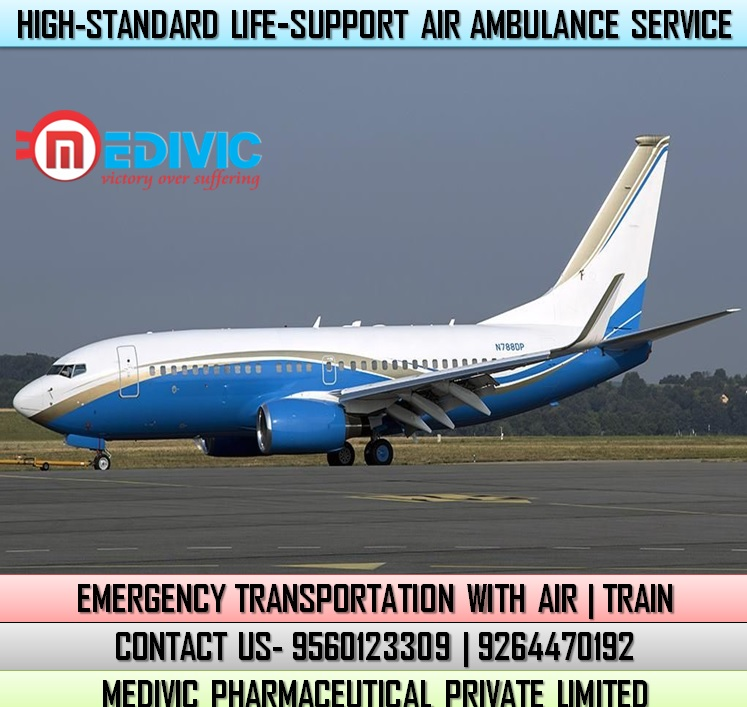 Pick ICU Capable Emergency Air Ambulance Service in Guwahati by Medivic
