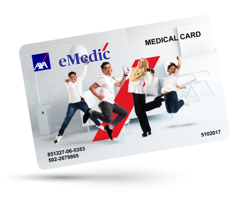 AXA E-MEDIC MEDICAL CARD As low as RM37 per month!