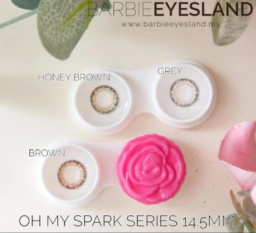 OH MY SPARK BROWN 14.5MM CONTACT LENS