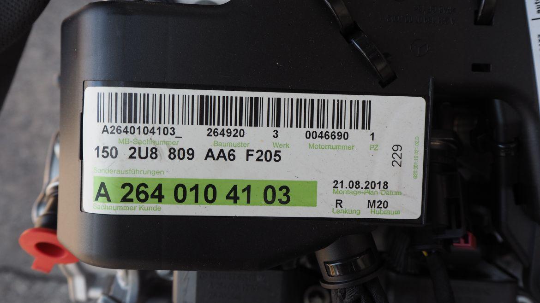 Mercedes W177 A200 2.0L 2018 Engine M264 920
