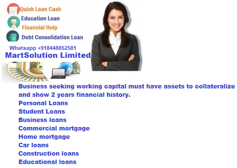 We can provide loans for personal or business needs